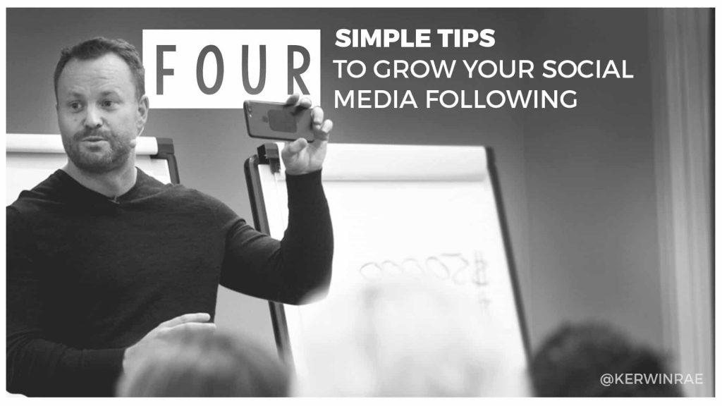 Four simple tips to grow your social media following